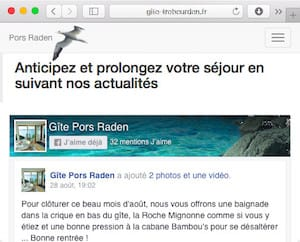 News of cottage Pors Raden at Trebeurden in Brittany