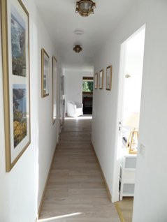 The corridor leading to the bedrooms